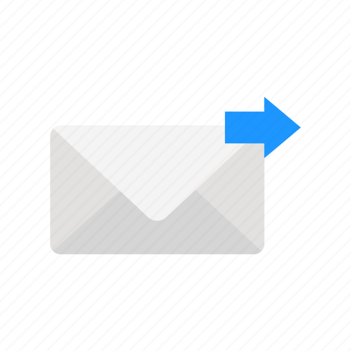 arrow right, envelope, send mail, send message icon