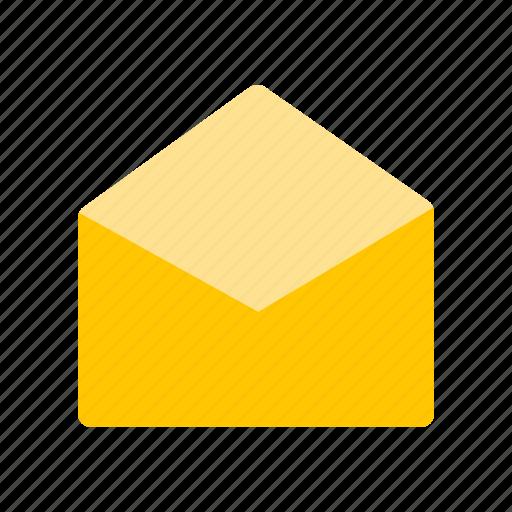 envelope, message, open envelope, open letter icon