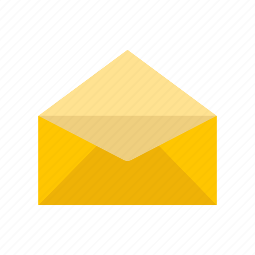 envelope, mail, message, open envelope icon