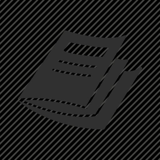 magazine, newspaper, paper, test paper icon