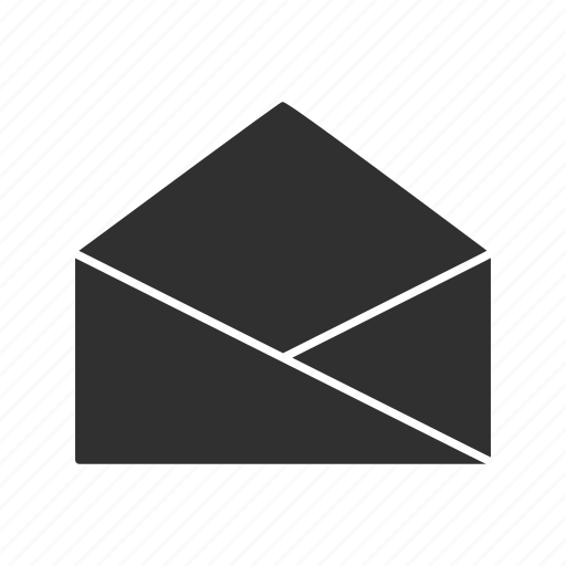 envelope, letter, mail, open letter icon
