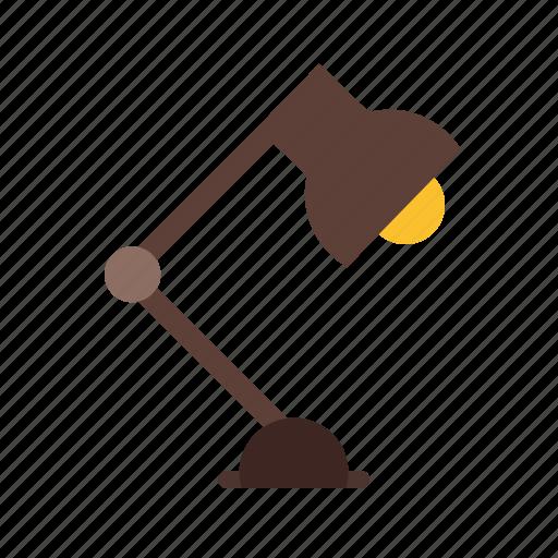 bulb, desk, lamp, light, reading, table icon