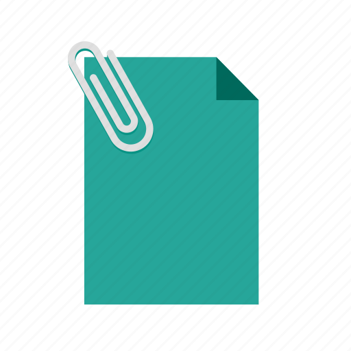 attached, document, message, note, office, paper icon