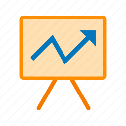 business, conference, meeting, presentation, screen icon