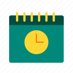 business, calendar, clock, date, management, schedule, time icon