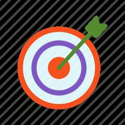business, market, marketing, target, targeting, team icon