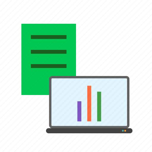 business, charts, data, financial, graphs, report, statistics icon