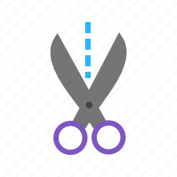 coupon, cut, cutting, line, object, ribbon, scissors icon