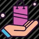 bag, hand, shopping