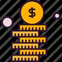 coin, dollar, finance, money