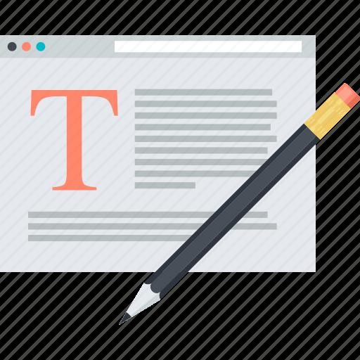 blogging, editing, flat design, internet, media, social icon