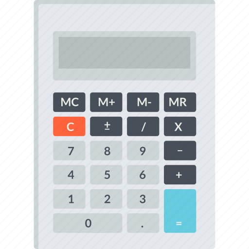 accounting, bookkeeping, budget, calculation, calculator, finance, flat design icon
