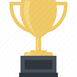 business, flat design, solutions, success, trophy, victory icon