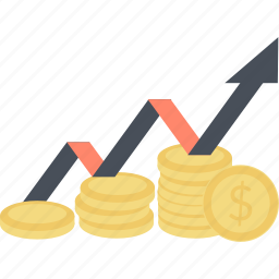 banking, business, finance, flat design, investment, money, sucess icon