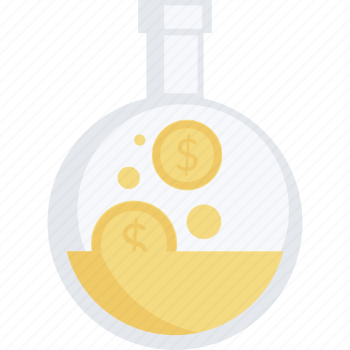 business, finance, investment, laboratory, make, money icon