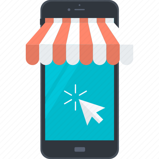 business, m-commerce, marketing, mobile, online, shopping icon