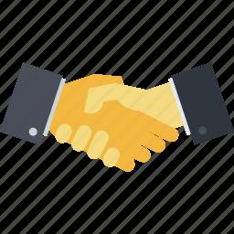 business, flat design, handling, handshaking, partnership icon