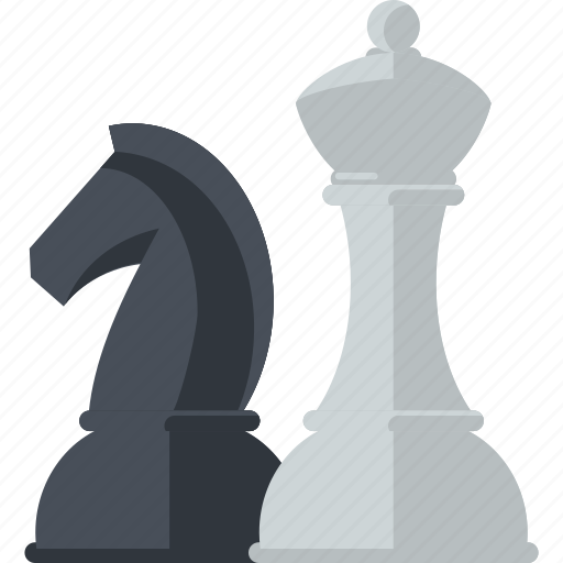 business, chess, concept, flat design, strategy icon