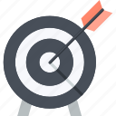 business, flat design, market, marketing, strategy, target icon