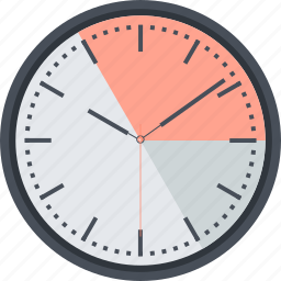 business, clock, flat design, management, time icon
