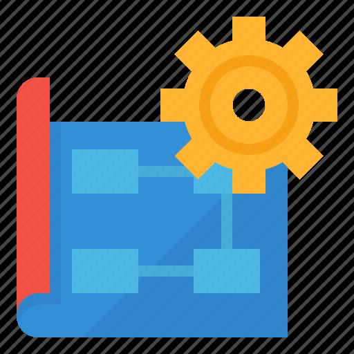 implementation, management, plan, planning icon