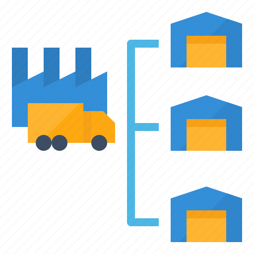 distribution, management, manufacturer, supplier icon