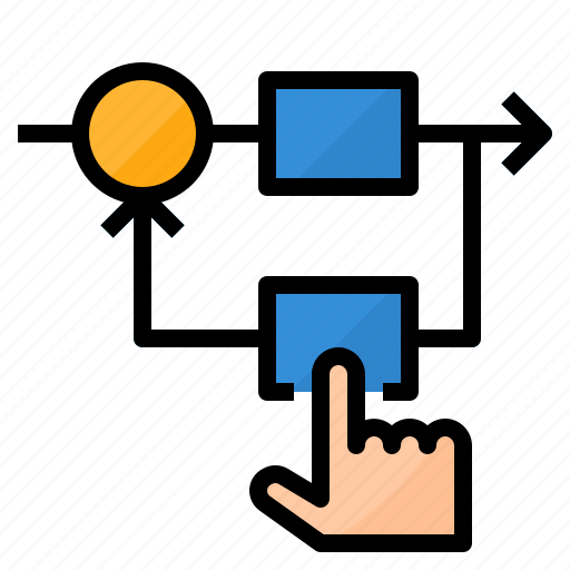 control, feedback, management, systems icon