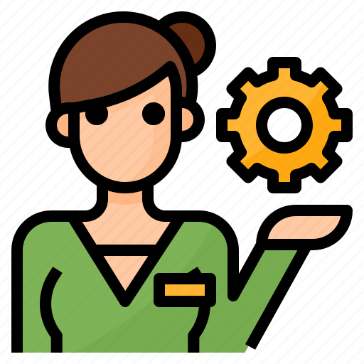 administration, employee, management, operations icon