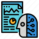 analytics, data, predictive icon