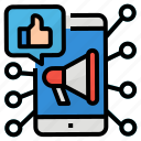 like, marketing, share, social icon