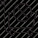 cart, discard, market, shipping icon
