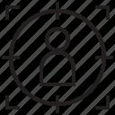 focus, market, shipping, target icon