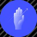 growth, marketing, raise, traffic, arrow, boost, hand icon