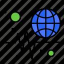globe, trends, wide, world icon