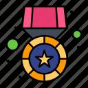 gold, medal, prize, star