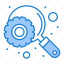 engine, optimization, search icon