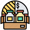 market, product, range, segment, variations icon