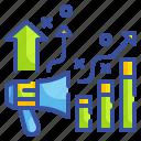 advancement, augmentation, development, enlargement, growth, profit, property icon