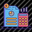 budgeting, finance, calculator icon