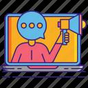 pr, marketing, technology icon