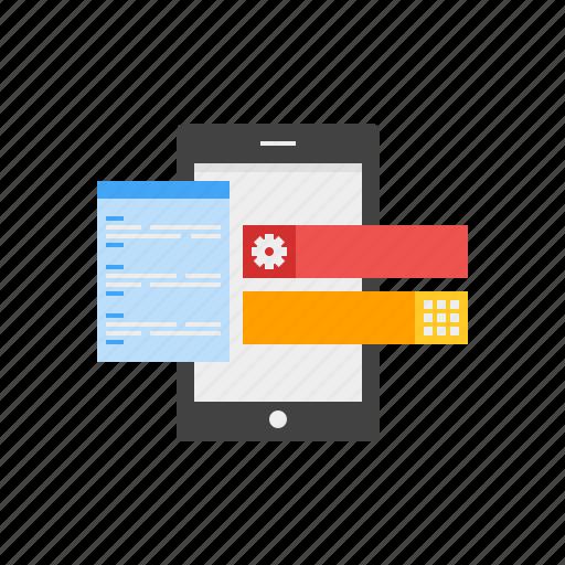 app, application, code, design, development, mobile icon