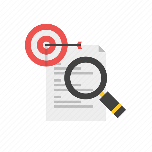 Article, content, marketing, search, target icon - Download on Iconfinder