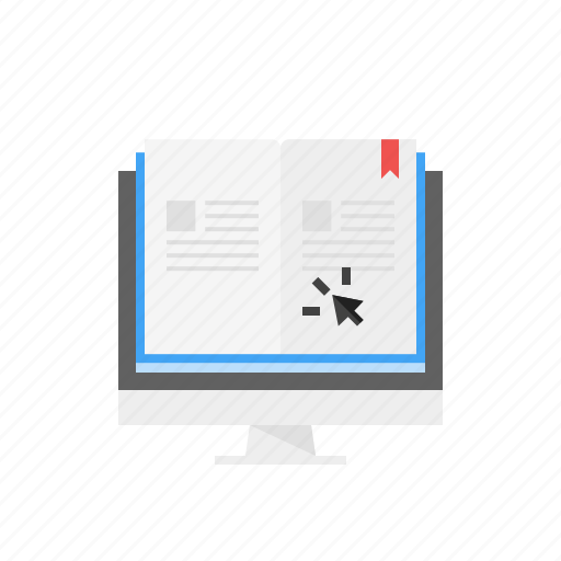 Click, ebook, education, online, reading, study icon - Download on Iconfinder
