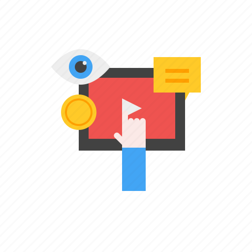 Click, marketing, media, money, social, video icon - Download on Iconfinder