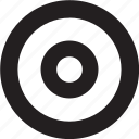 center, target icon