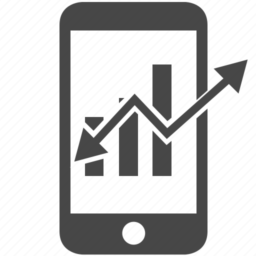 business, chart, diagram, graph, mobile, stat, statistic icon