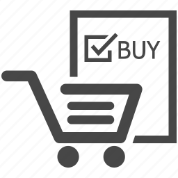 buy, cart, checked, ecommerce, marketting, online shopping, shopping cart icon