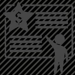 bills, dollar, exchange, marketting, money, price, report icon