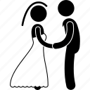 ceremony, couple, event, marriage, marry, promise, vow icon