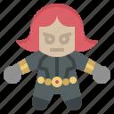avangers, avatars, black, gartoon, hero, marvel, widow icon